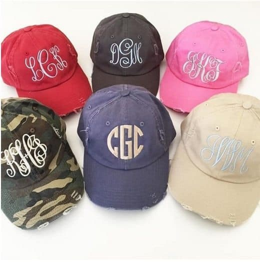 Personalized Distressed Cap Only $12.99
