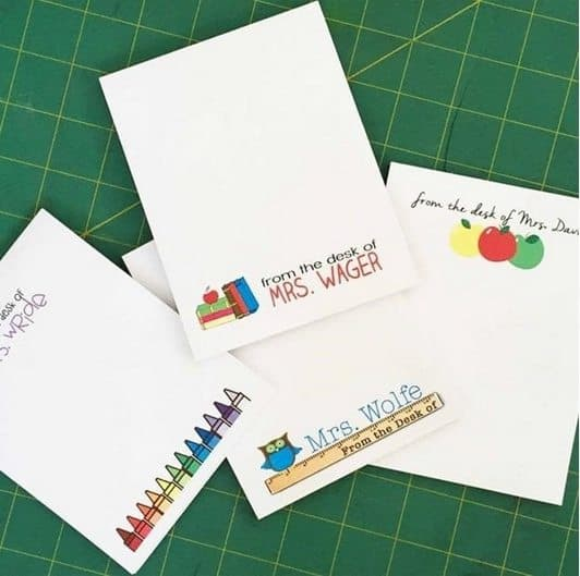 Personalized Teacher Notepads Only $3.50