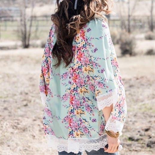 Floral & Lace Kimonos Only $14.99