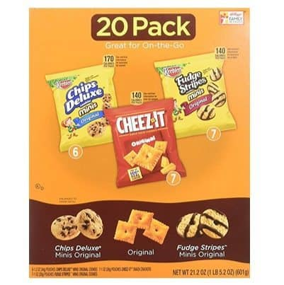 Keebler Cookie and Cheez-It Variety Pack 20-Count Only $6.38