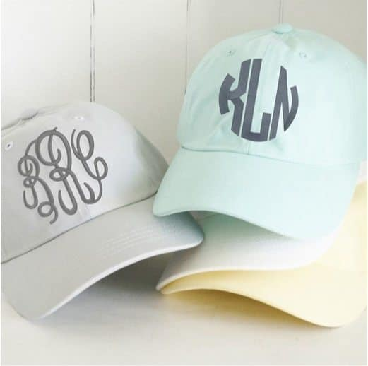 Monogrammed Caps Only $12.99