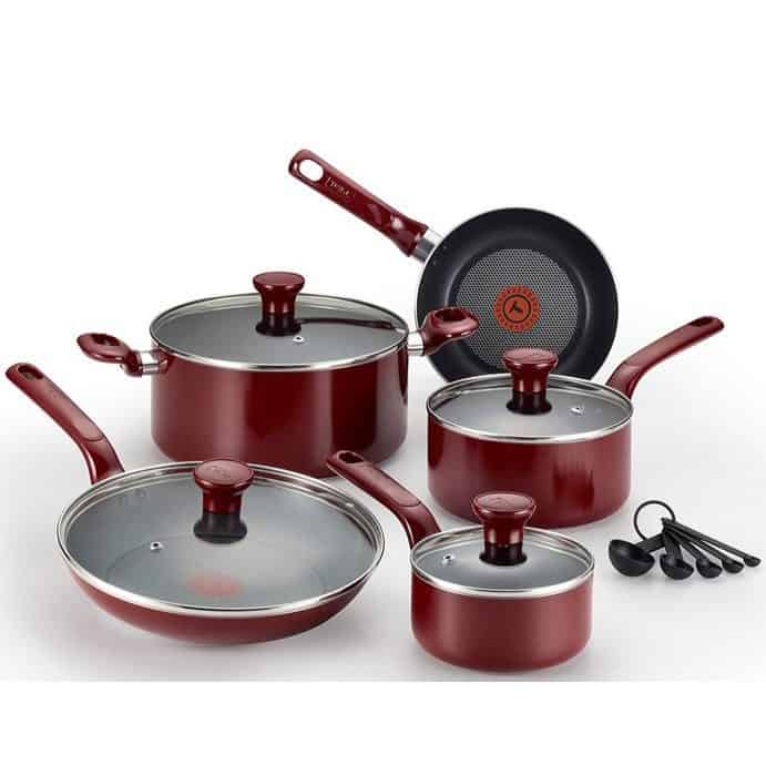 T-fal Excite Nonstick Thermo-Spot Oven Safe 14-Piece Cookware Set $45.99 (Was $80)