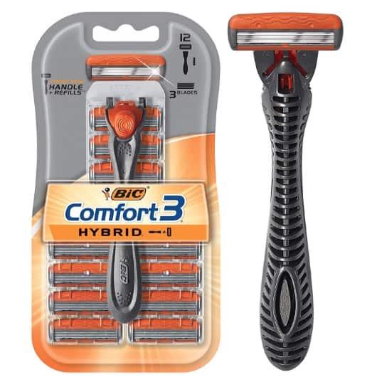 BIC Comfort 3 Hybrid Men's 3-Blade Disposable Razor + 12 Cartridges Now .47 (Was .99)