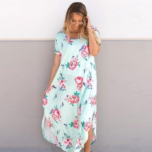 Relaxed Floral Maxi Dresses Only $12.99