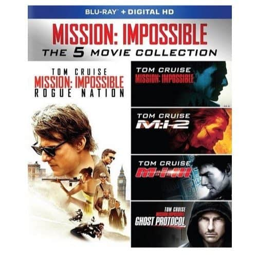 Mission: Impossible: The 5 Movie Collection Blu-ray Only $19.99