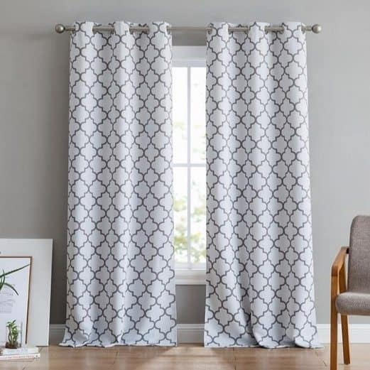 Printed Blackout Grommet Curtains $24.99