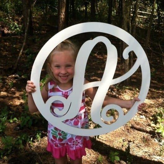 Circle Monogram Letter Only $9.99