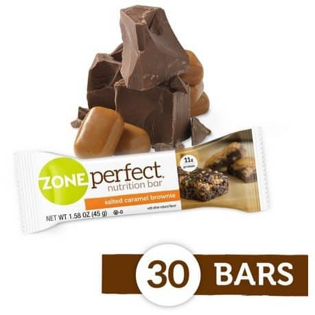 ZonePerfect Nutrition Salted Caramel Brownie Snack Bars 30-Count Only $12.64