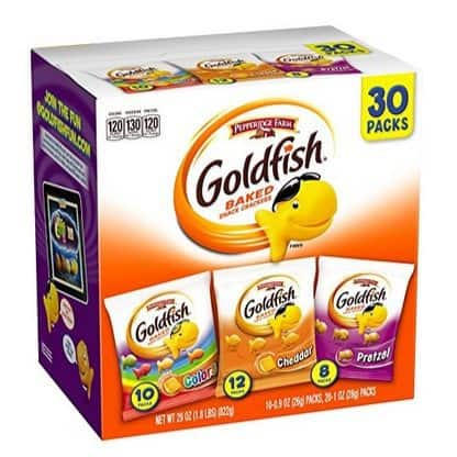 Pepperidge Farm Goldfish Variety Pack Classic Mix 30-Count Only $7.58