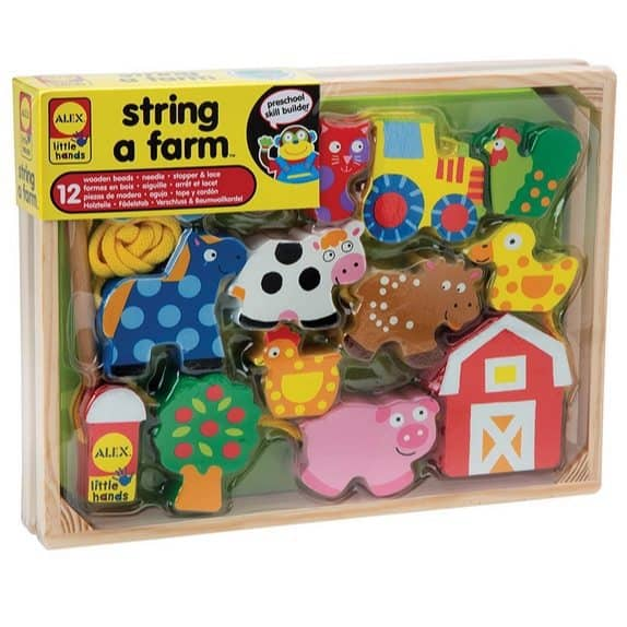 ALEX Toys Little Hands String A Farm Only $8.99