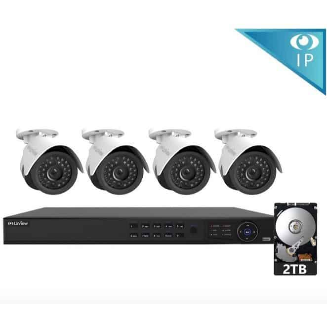 LaView 4 1080P IP Camera Security System $289.99 + MORE Deals Security Systems **Today Only**