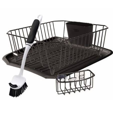 4 Piece Rubbermaid Antimicrobial Sink Dish Rack Drainer Set Only $15.33 (Was $30.49)
