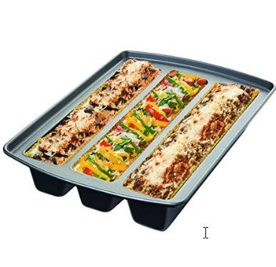 Chicago Metallic Professional Lasagna Trio Pan, 16-Inch-by-12.5-Inch Only $13.99 (Was $29.99)