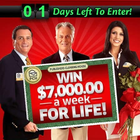 WIN $7,000 a Week for LIFE from Publisher's Clearing House!