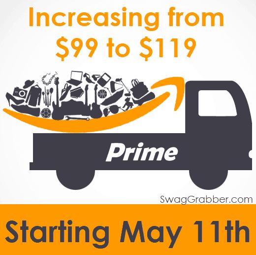 Amazon Prime Membership Increase - Jumping from $99 to $119 May 11