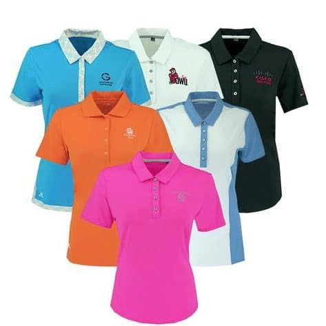 2-Pack adidas Women's Logo Overrun Polo Shirt Assorted Colors Only $25.00 Shipped