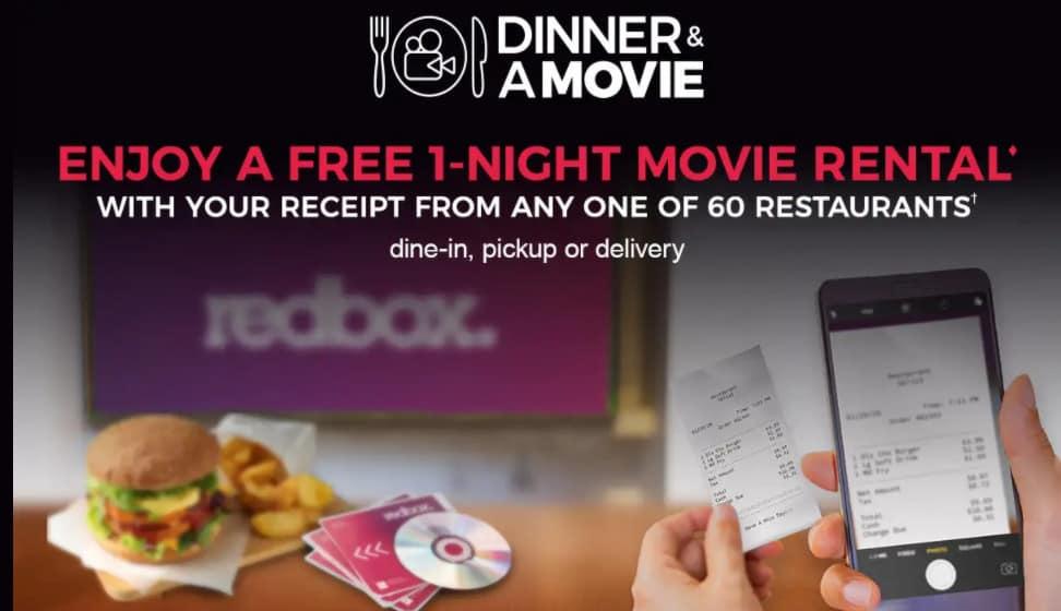 Free Redbox Movie For Scanning Restaurant Receipt