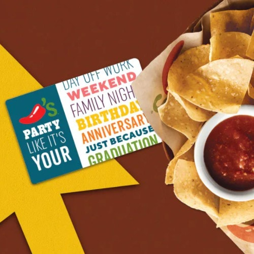 Buy  Chili's Gift Card, Get TWO  Gift Cards FREE
