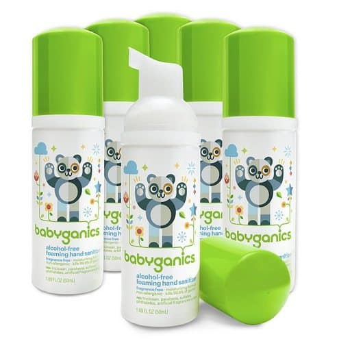 Babyganics Alcohol-Free On-The-Go Foaming Hand Sanitizer 6-Pack Only $10.85