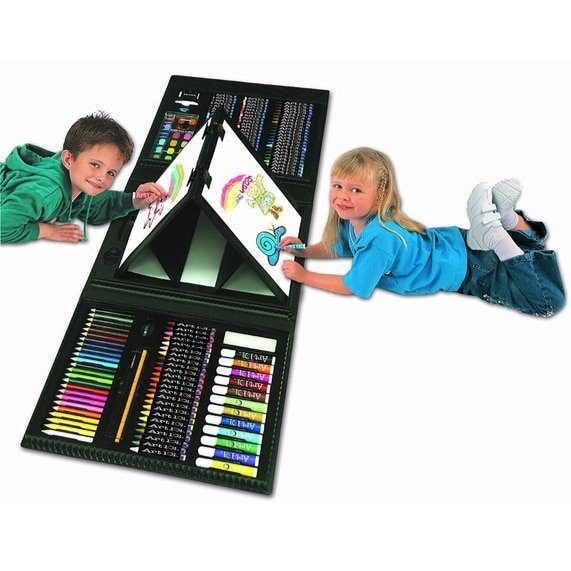 Art 101 Kids 179-Piece Double Sided Trifold Easel Art Set Only $16.99