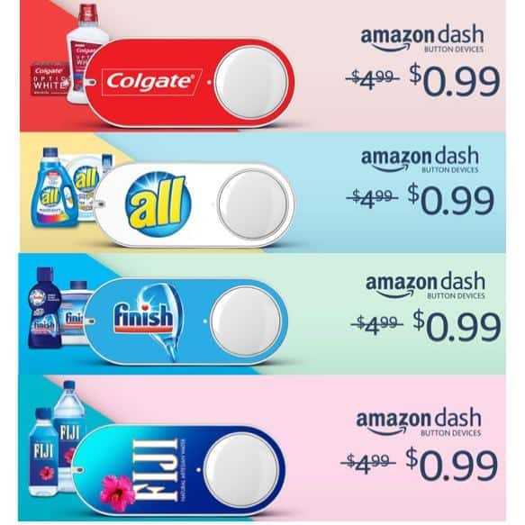 Amazon Prime Members: $0.99 Dash Buttons + Get $4.99 Credit **HOT**