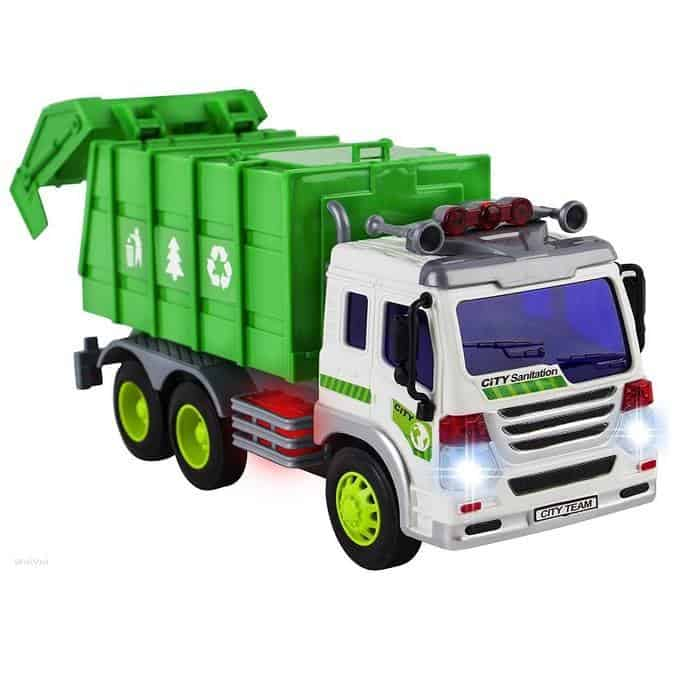 WolVol Friction Powered Garbage Truck Toy With Lights and Sounds Only $13.94 (Was $39.94)