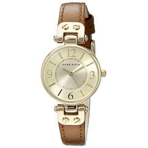 Anne Klein Gold-Tone Champagne Dial Leather Watch Only $29.99 + MORE Anne Klein Gifts **Today Only**