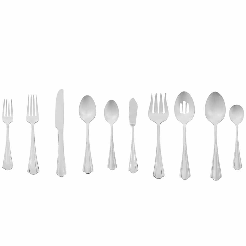 AmazonBasics 65-Piece Stainless Steel Flatware Set with Scalloped Edge Only $33.86