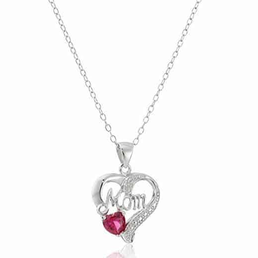 """Mom"" Open Heart Pendant Necklace Only $14.19 + MORE Deals on Mother's Day Jewelry Gifts **Today Only**"