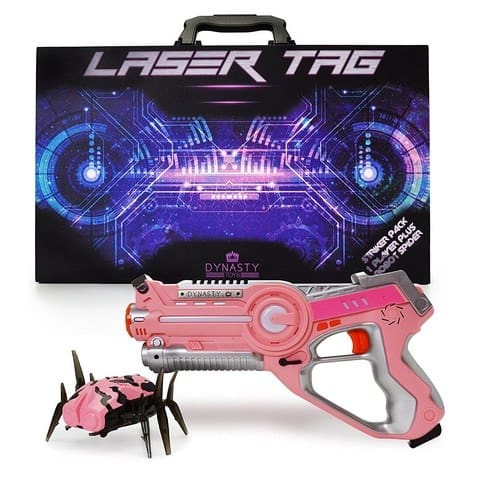 Dynasty Toys Pink Laser Tag Blaster and Flipping Robot Bug/Spider Only $14.99 (Was $55)