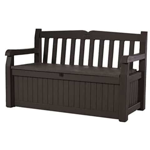 Keter Eden 70 Gallon All Weather Garden Bench Deck Box $100.24