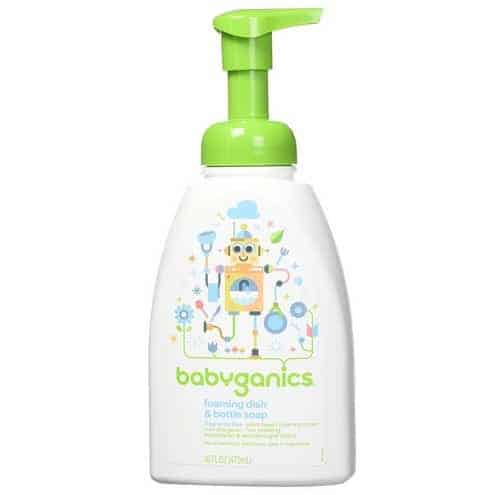 Babyganics Foaming Dish and Bottle Soap 16oz Pump 3-Pack Only $7.75