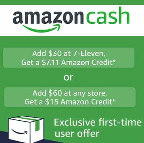Free $15 Amazon Credit When Adding $60 Amazon Cash