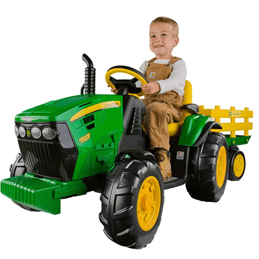 Peg Perego John Deere Ground Force Tractor with Trailer Only 9
