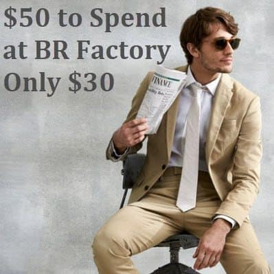$50 To Banana Republic Factory ONLY $30