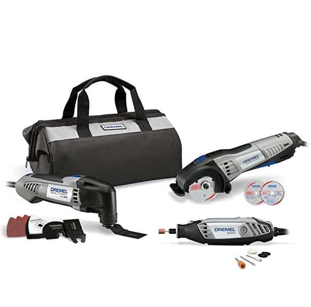 Dremel CKDR-02 Ultimate 3-Tool Combo Kit with 15 Accessories and Storage Bag Only $159.00 (Was $229.00)