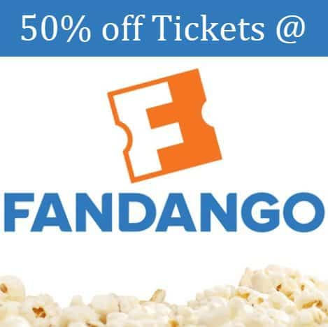 Two Fandango Movie Tickets ($26 Value) for only $13 **50% Off**