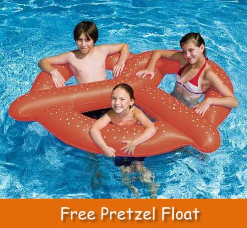 HURRY!! Free Pretzel Pool Floatie