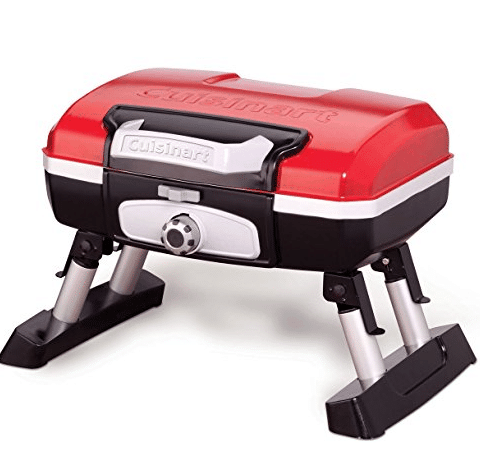 Cuisinart Petit Gourmet Portable Tabletop Gas Grill, Red Only $65.24 (Was $96.53)