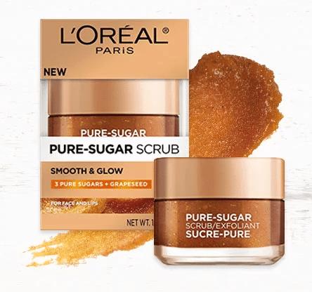 Free L'Oreal Paris Smooth & Glow Pure-Sugar Scrub Sample