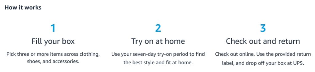 Amazon Prime Wardrobe - Try on Clothes for FREE at Home + Get $20 of $200