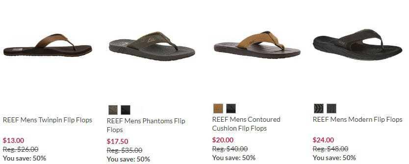 Bealls Florida: 50% off Men's Reef Flip Flops **Father's Day Gift Idea**