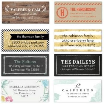 Two Free Sets of Customized Labels from Shutterfly