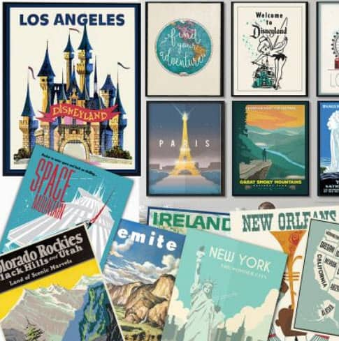 GroopDealz: Large Vintage Travel Posters Only $4.77 - 129 Options!