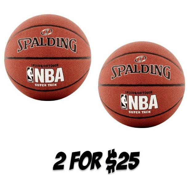 """2 Pack Spalding NBA SUPER TACK Basketball, Official Size 29.5"""" $25 - $12.50 Each **$30 Each on Amazon**"""