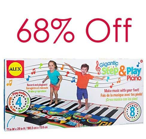 ALEX Toys Gigantic Step and Play Piano Only $25.84 (Was $79.99)