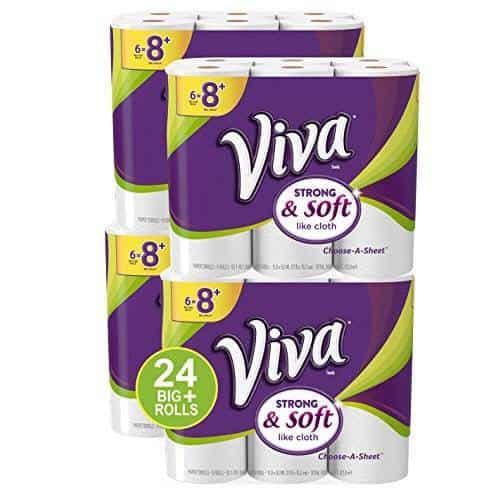 VIVA Choose-A-Sheet Big Plus Roll Paper Towels 24-Count $25.78 + $10 Off $50 Household Essentials