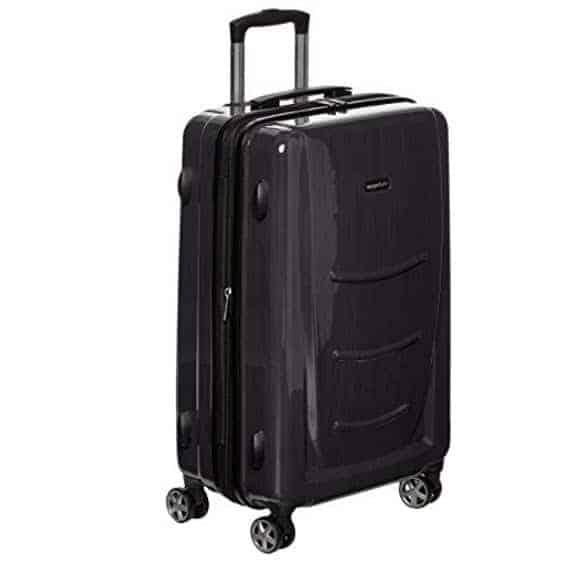 "AmazonBasics Hardshell Spinner - 20"" Cabin Size, Slate Grey Only $29.99 (Was $59.99)"