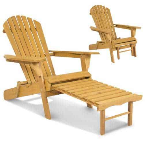 Wooden Adirondack Chair w/ Pull Out Ottoman ONLY $59.99 Shipped (Was $150)