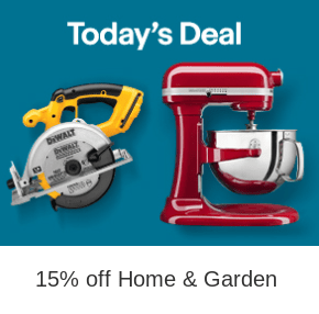 Ebay Coupon Code: 15% off ANY Home & Garden Purchase